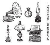 vintage objects set | Shutterstock . vector #453642157