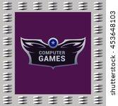 editable template logo and... | Shutterstock .eps vector #453648103
