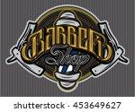 stylish template for logo or... | Shutterstock .eps vector #453649627