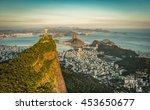 aerial view of botafogo bay and ... | Shutterstock . vector #453650677
