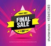final sale banner. special... | Shutterstock .eps vector #453651283