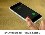 reject an incoming call from... | Shutterstock . vector #453653857