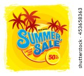 summer sale template banner | Shutterstock .eps vector #453658363