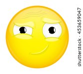 hah emoji. good emotion. smirk... | Shutterstock .eps vector #453659047