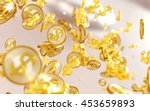 gold coins with dollar symbols  ... | Shutterstock . vector #453659893