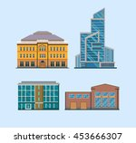 flat city buildings | Shutterstock .eps vector #453666307