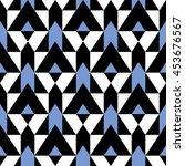 vector geometric seamless... | Shutterstock .eps vector #453676567