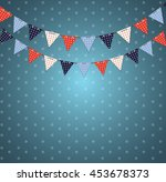 party background with flags... | Shutterstock .eps vector #453678373