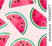 fruity seamless vector pattern... | Shutterstock .eps vector #453683377