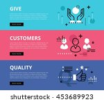 flat line web banners of...