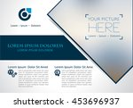 vector brochure  flyer ... | Shutterstock .eps vector #453696937
