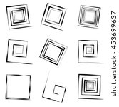 square spirals | Shutterstock .eps vector #453699637