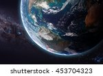 the earth from space showing... | Shutterstock . vector #453704323