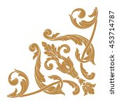 vintage baroque ornament. retro ... | Shutterstock .eps vector #453714787