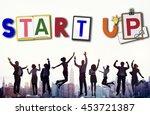 start up business growth launch ...   Shutterstock . vector #453721387