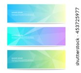 banner design. collection of... | Shutterstock .eps vector #453725977