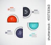 vector infographic design...   Shutterstock .eps vector #453733363