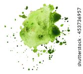abstract watercolor stain  with ... | Shutterstock .eps vector #453736957