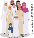 family and social concept. arab ... | Shutterstock .eps vector #453738157