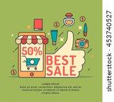 vector illustration of best... | Shutterstock .eps vector #453740527