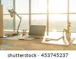 side view picture of studio... | Shutterstock . vector #453745237