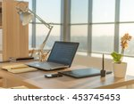 side view picture of studio... | Shutterstock . vector #453745453