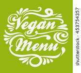 vegan menu. hand drawn... | Shutterstock . vector #453754357