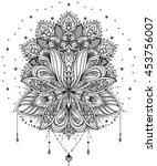 vector ornamental lotus flower  ... | Shutterstock .eps vector #453756007