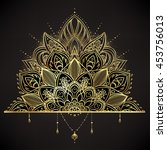 vector ornamental lotus flower  ...
