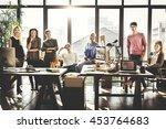 worker team  business corporate ... | Shutterstock . vector #453764683