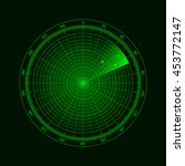digital radar with the aims on...   Shutterstock .eps vector #453772147