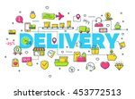 delivery concept with modern... | Shutterstock .eps vector #453772513
