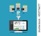 data mining processing. | Shutterstock .eps vector #453776677