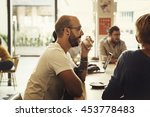 coffee shop people cafe... | Shutterstock . vector #453778483