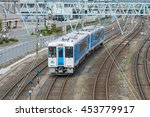 Small photo of YAMAGATA,JAPAN - APRIL 14,2016: Top view of the local train (KiHa 101 DMU) at Yamagata station. It operated by East Japan Railway Company (JR East) for Aterazawa line (Yamagata - Aterazawa route).