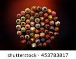 colorful pencils   studio shot | Shutterstock . vector #453783817