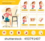 girl office syndrome info... | Shutterstock .eps vector #453791407