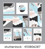 collection of trendy creative... | Shutterstock .eps vector #453806287
