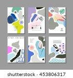 collection of trendy creative... | Shutterstock .eps vector #453806317