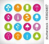 tree icons | Shutterstock .eps vector #453826807