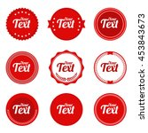 set of round badge shape vector ... | Shutterstock .eps vector #453843673