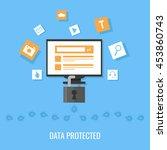 data protection  virus... | Shutterstock .eps vector #453860743