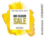mid season sale banner template.... | Shutterstock .eps vector #453868987