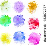 abstract colorful watercolor... | Shutterstock . vector #453872797