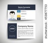 modern simple business card set ... | Shutterstock .eps vector #453877753