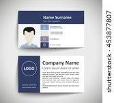 modern simple business card set ... | Shutterstock .eps vector #453877807
