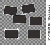 vector set of blank photo... | Shutterstock .eps vector #453882133