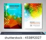 front and back page brochure... | Shutterstock .eps vector #453892027