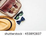 men's accessories outfits with... | Shutterstock . vector #453892837