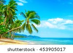 beautiful sunny beach. view of... | Shutterstock . vector #453905017